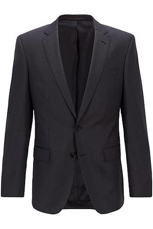HUGO BOSS Slim-fit jacket in melange virgin wool