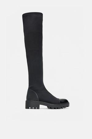 Zara Hoge laarzen met trackzool