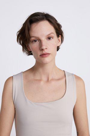 Zara Tops & Shirts - STRETCHTOP MET BREDE SCHOUDERBANDJES