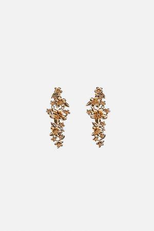Zara Metal floral earrings