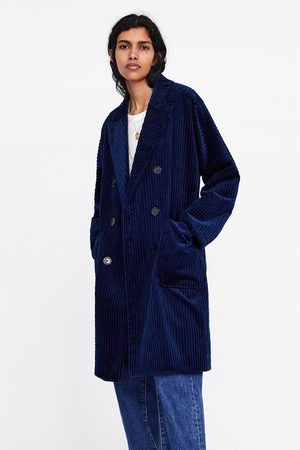 Zara Double-breasted jas van corduroy