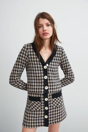 Zara Tweed top met knopen