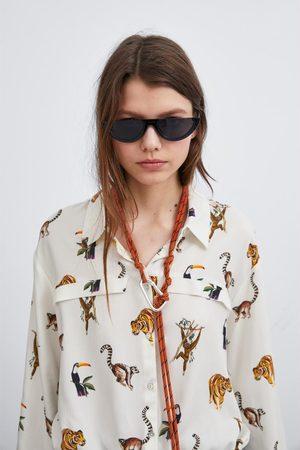 Zara Cropped blouse