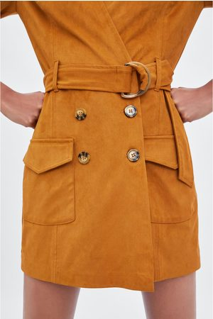 Zara Jumpsuit-jurk met suède-look