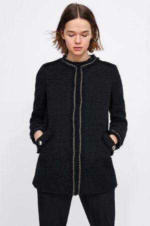 Zara Tweed jacquetjas met zakken
