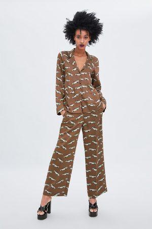 Zara Pyjamabroek met print