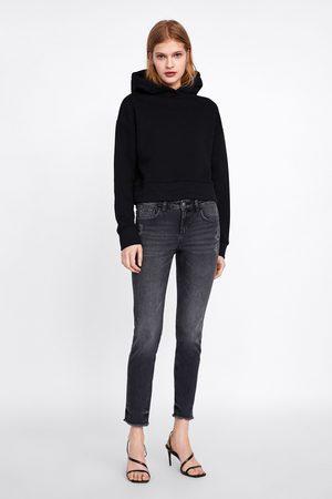 Zara Skinny jeans z1975 met gerafelde pijpen