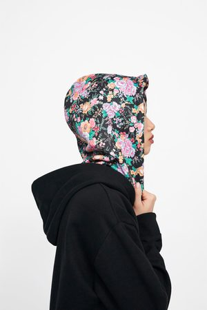 Zara Floral print hoodie