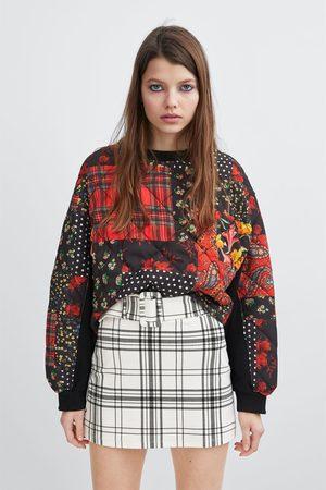Zara Check mini skirt
