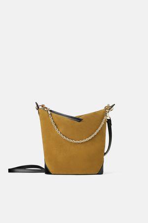 Zara Suède buideltas met ketting