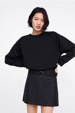 Zara Dames Korte & Mini rokken - Faux leather mini skirt with belt