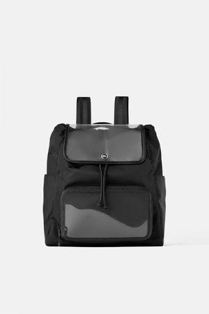 Zara Vinyl technical fabric backpack