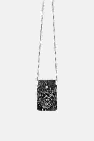 Zara Vinyl schoudertas voor mobiel met dierenprint