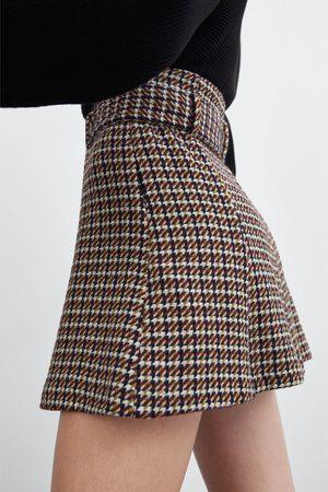 Zara Tweed minirok met ceintuur