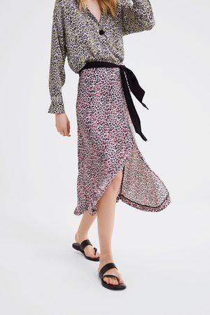 Zara Rok met dierenprint en strik