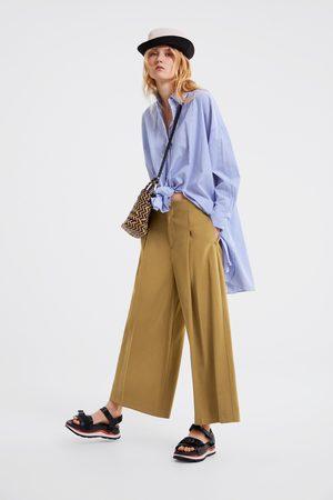 Zara Brede cropped broek