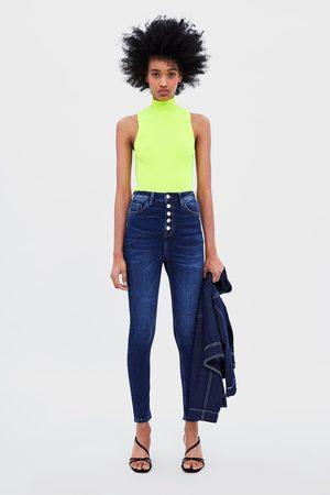 Zara Z1975 buttoned skinny jeans