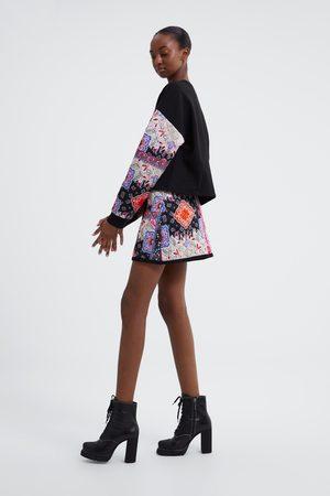 Zara Gewatteerde minirok met print