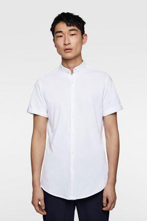 Zara Piqué overhemd met maokraag