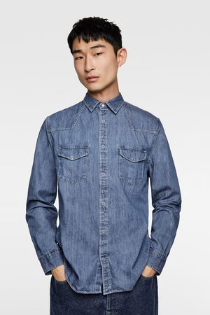 Zara DENIM OVERHEMD