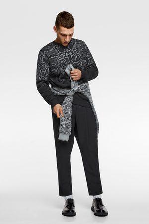 Zara Jacquard sweatshirt met dierenprint