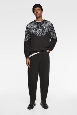 Zara Sweatshirt met print en textuur