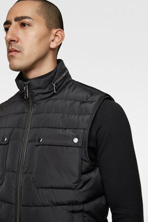 Zara Puffer gilet with pockets