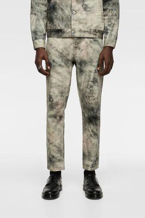 Zara Jeans met tie-dye print