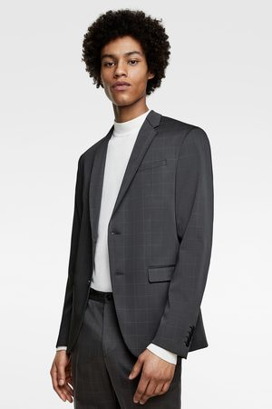 Zara Technische, geruite kostuumblazer