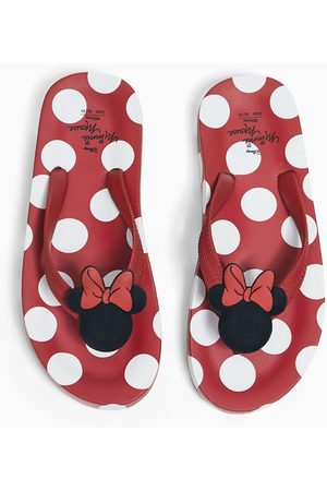 Zara ©disney's minnie mouse polka dot pool sandals