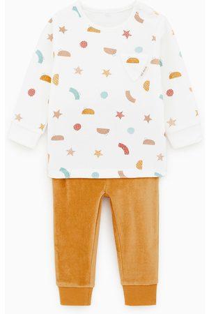 Zara Velvet pyjama met figuurtjes
