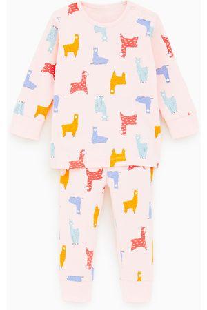 Zara Pyjama met lama's