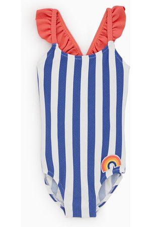 Zara Gestreept badpak met regenboog