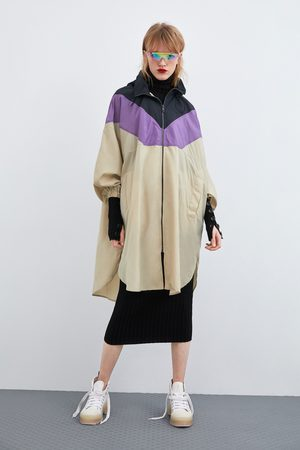 Zara Opvouwbare regenjas met kleurblokken