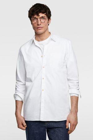 Zara Twill overhemd met structuur