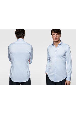 Zara Overhemd met structuur en manchetknopen