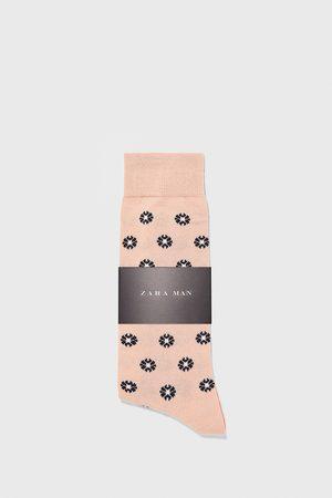 Zara Gemerceriseerde jacquard sokken met bloemen