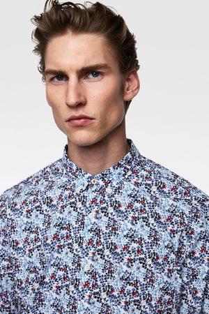 Zara Popeline overhemd met bloemenprint