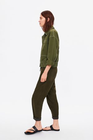 Zara Corduroy baggy broek