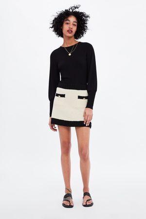 Zara Minirok met contrasterende biezen