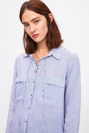 Zara Dames Blouses - Gestreepte blouse met strik