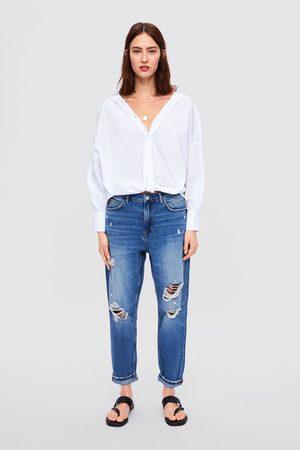 Zara Jeans z1975 met scheuren