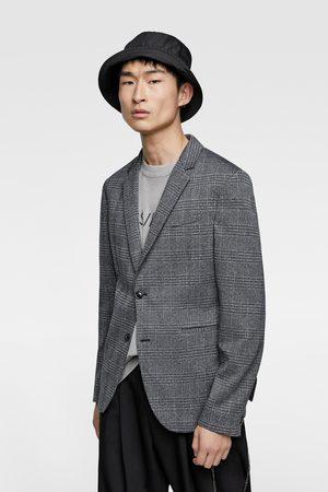 Zara Comfortabele geweven blazer met ruitjes