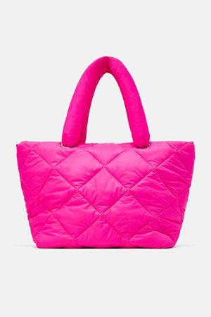Zara Felgekleurde shopper met wattering