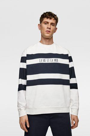 Zara Gestreept sweatshirt met kleurblokken