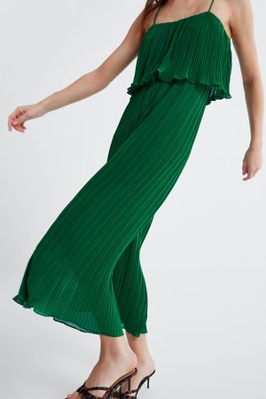 Zara Pleated jumpsuit with straps