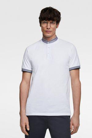 Zara Polo met gecombineerde details