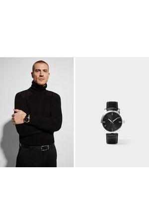 Zara Heren Horloges - Minimalistisch horloge met leren bandje