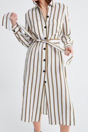 Zara Gestreepte tuniek met zakken