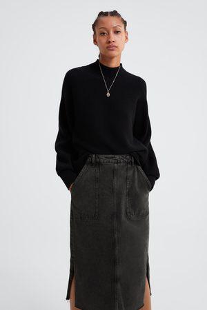 Zara Vintage-style denim skirt